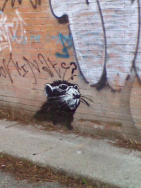 Banksy rat on Spadina