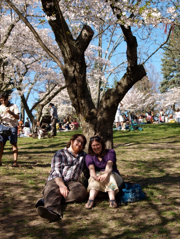 Just another couple enjoying the sakura trees at High Park