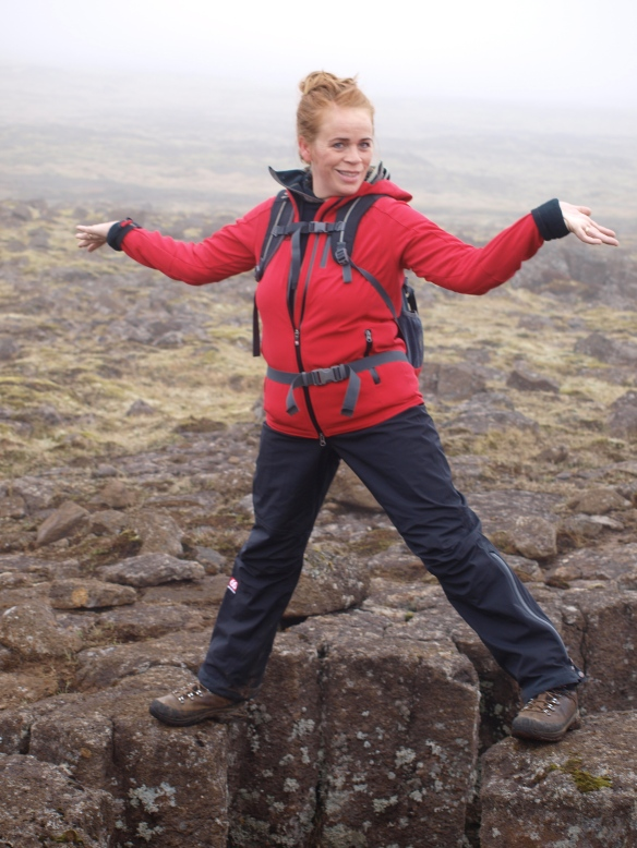 Straddling the North American and Eurasian tectonic plates
